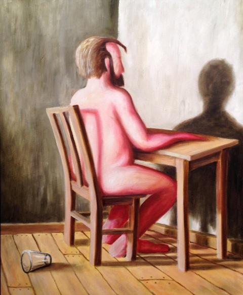 Bram-Vermeulen-Naakte-man-aan-tafel